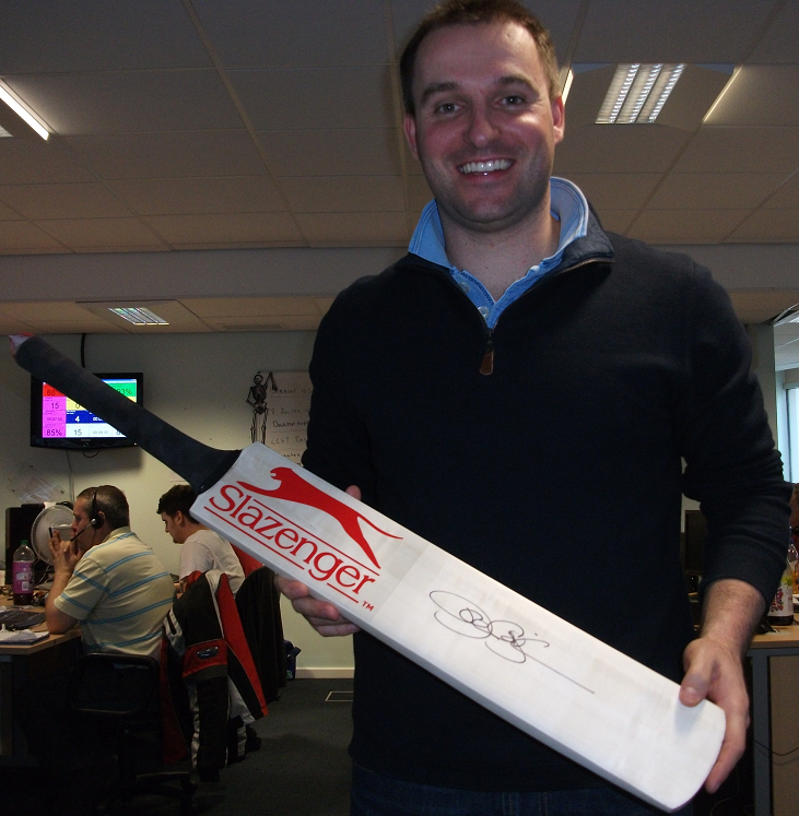 Cricket Bat signed by Paul Collingwood