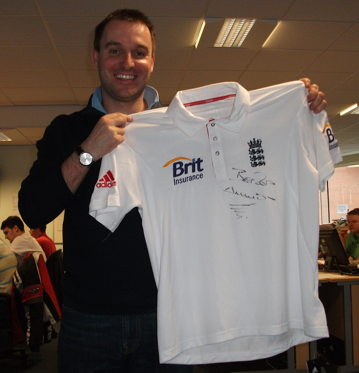 England shirt signed by Darren Gough