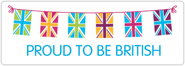 Proud to be British banner.