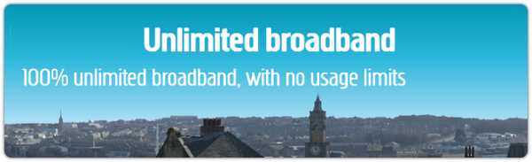 Plusnet Unlimited broadband banner