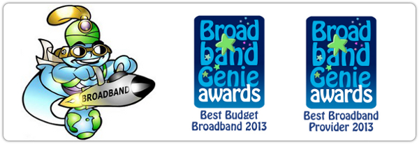 Broadband Genie awards logo