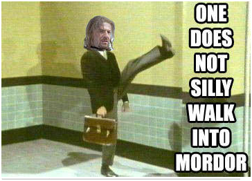 one does not simply silly walk