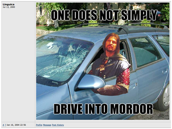 One does not simply choose alternate text