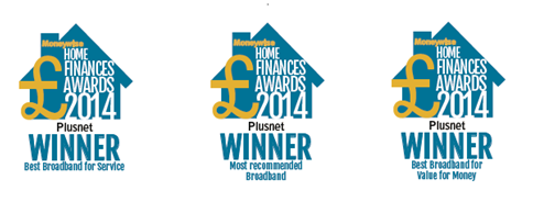Plusnet wins 3 Moneywise home finance awards