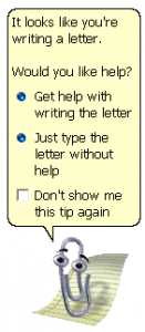 Microsoft Help Paperclip Clippy