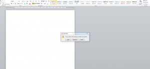 Microsoft Word Do You Want to Save Pop-up