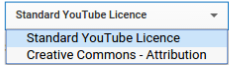 Licence Attribution Type YouTube