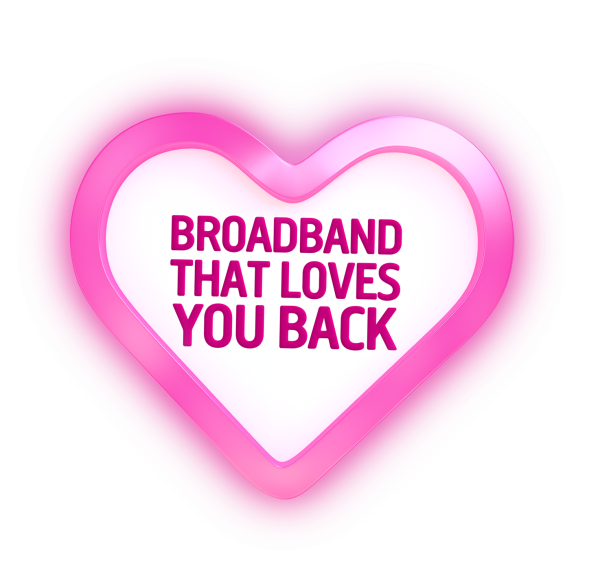 Broadband That Loves You Back Plusnet Advert
