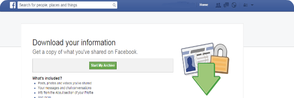 Facebook download information personal data