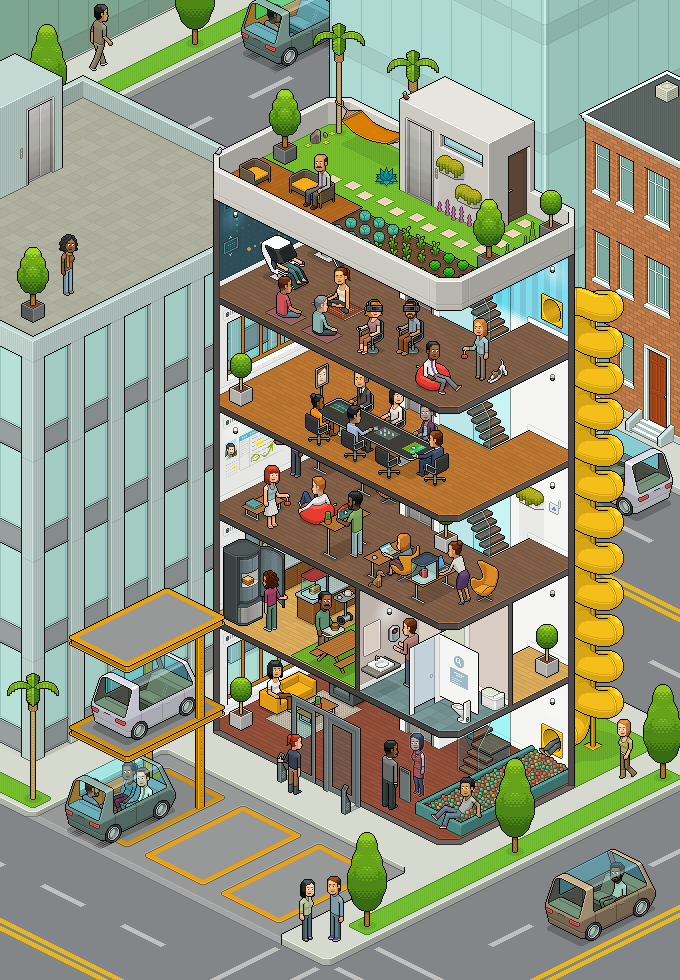 Full Office of the Future 2030 Pixelart