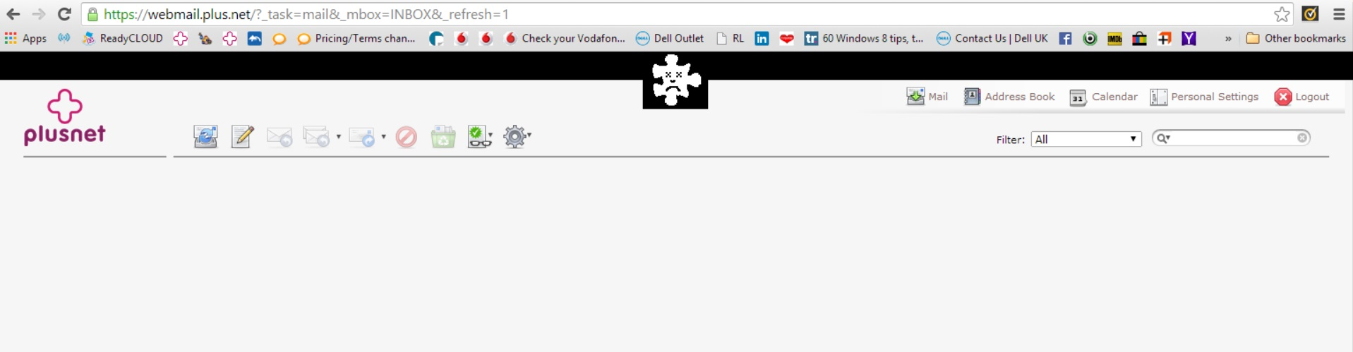 Webmail index not displaying in Chrome - Plusnet Community
