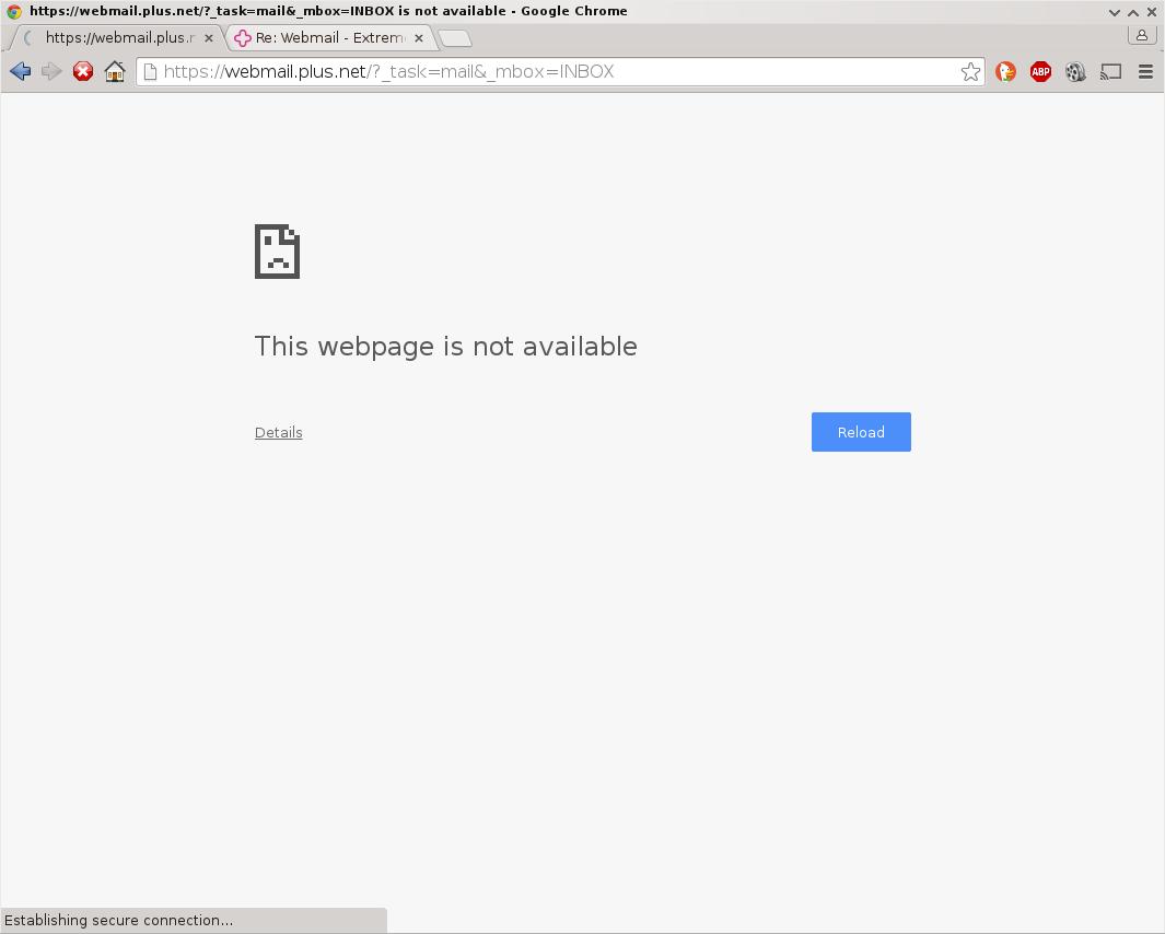 plusnet webmail