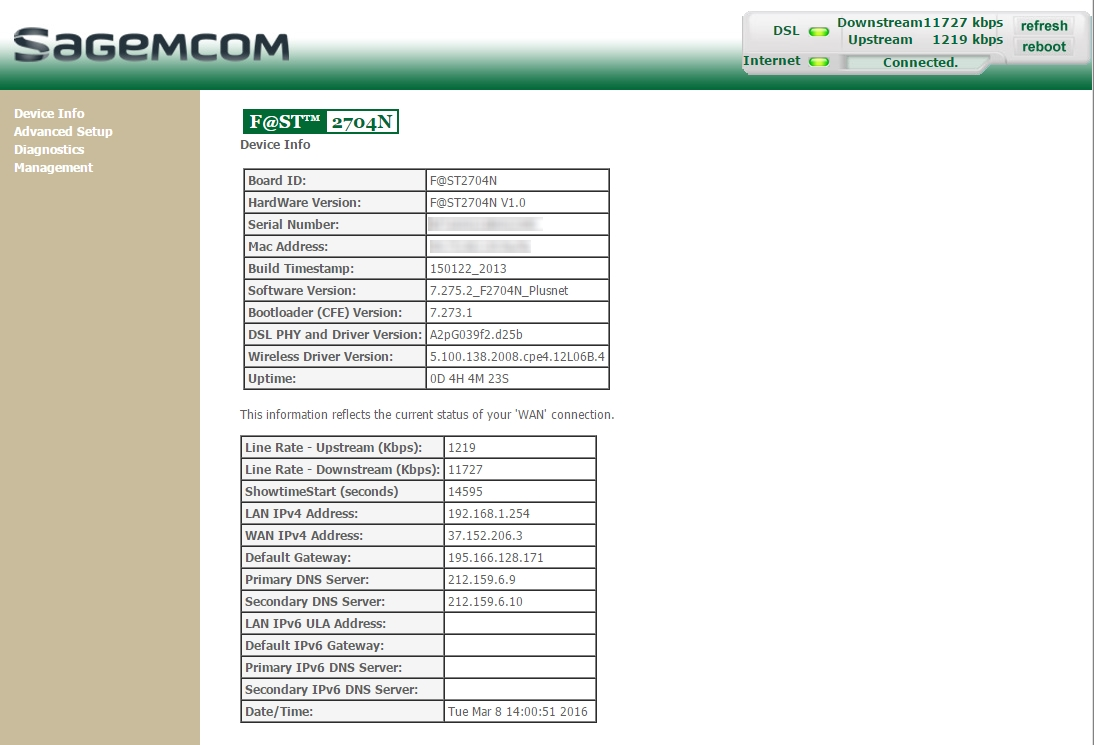 Unlocking the potential of Sagemcom 2704N - Page 14 - Plusnet Community