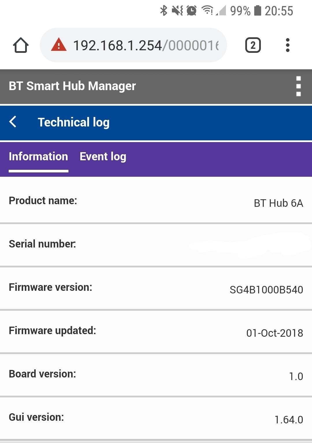 bt hub 6 firmware update 2018