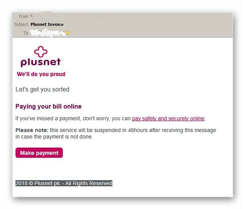 Line Rental Saver >> Spam / Phishing from PN - Page 2 - Plusnet Community