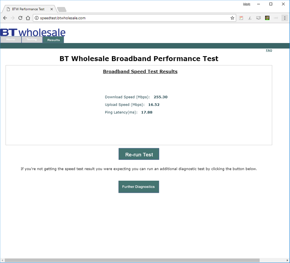 Fixed: BT Speedtest VERY high - Plusnet Community
