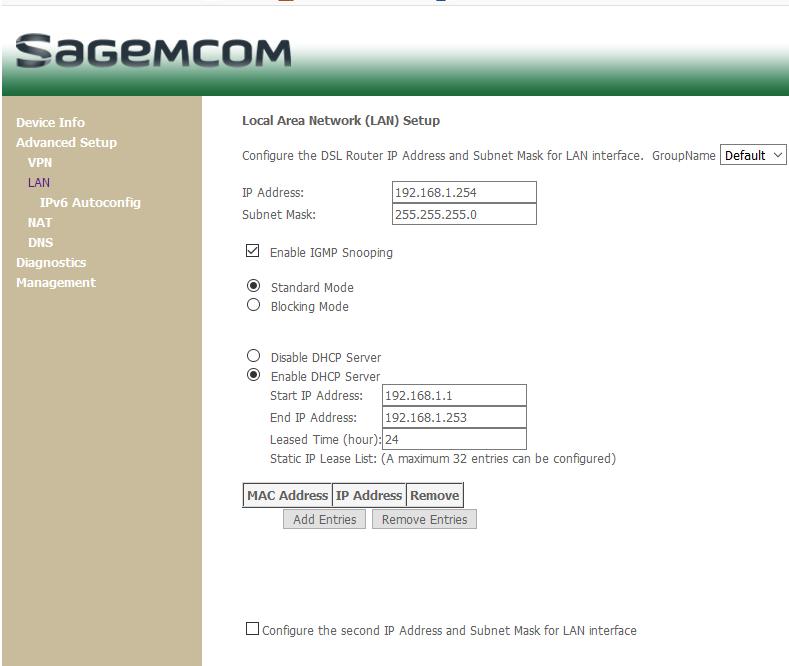 Fix ip addresses for units on my LAN - Plusnet Community