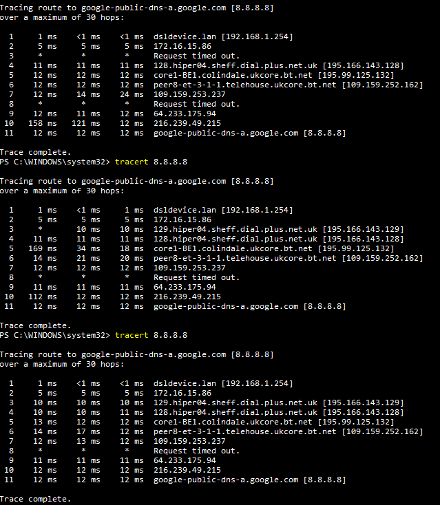 Intermittent high latency issues even on WIRED  - Plusnet