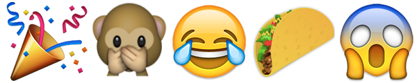 Emojis party monkey tears of joy taco scream.png