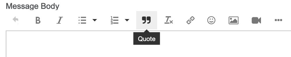 Quote option.
