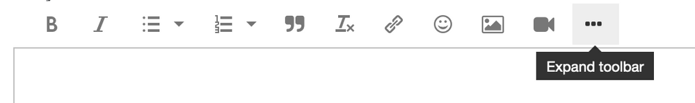 Expand the Toolbar