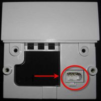 Remove faceplate to reveal test socket
