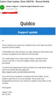 Email reasoning 'not recognised Quidco' ???
