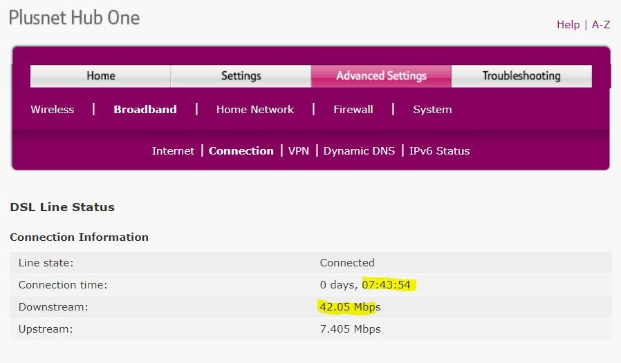 Plusnet Hub One 23-03-2020 10.11 (Plusnet router some days after Openreach visit).JPG