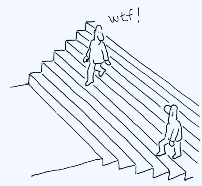 Escher was shocked the day he saw himself going up the stairs!