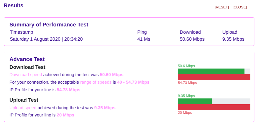 From BT speed test