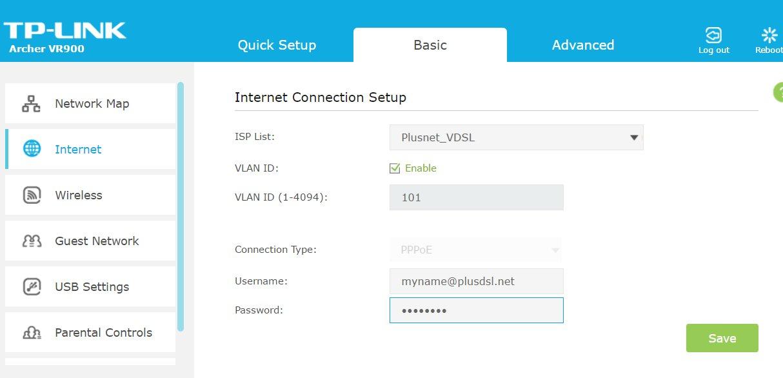 tp link router configuration emulator