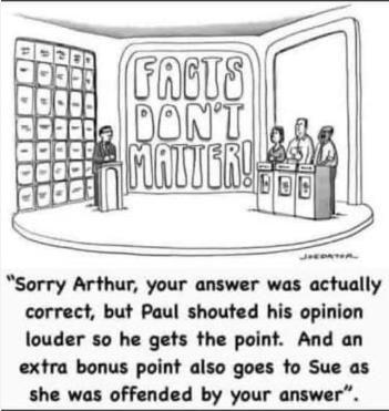 Arthur missed the point again :-)