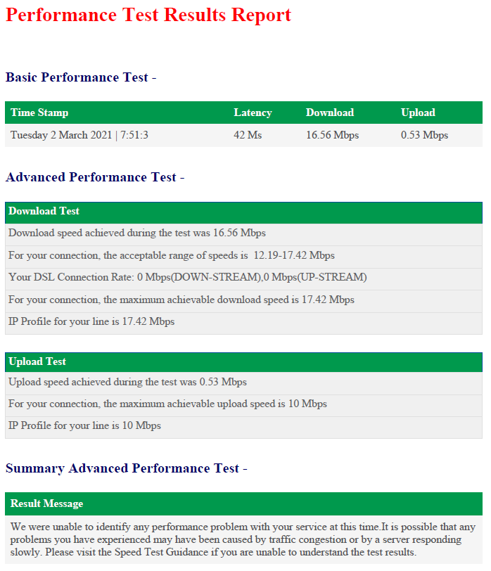 Old Performance test 2 March