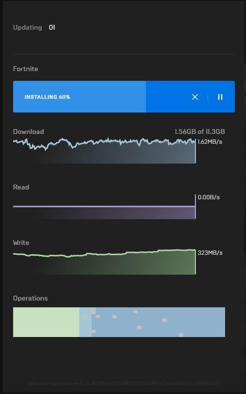 Fortnite download speed