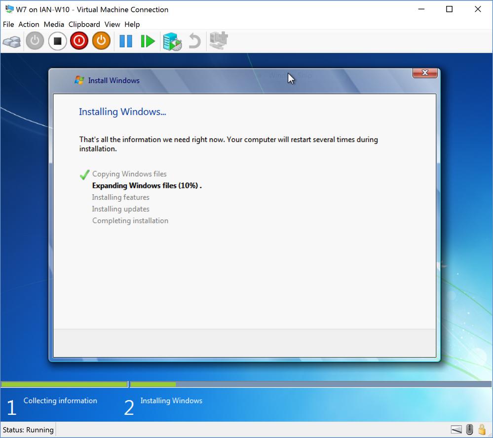 windows 7 installing update 1 of stuck
