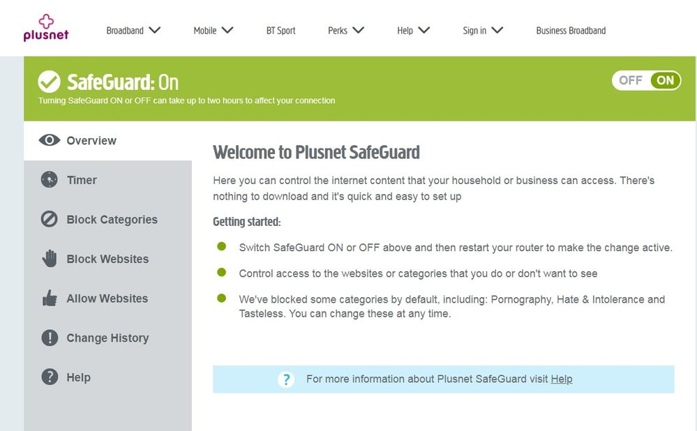 My Safeguard is 'On'