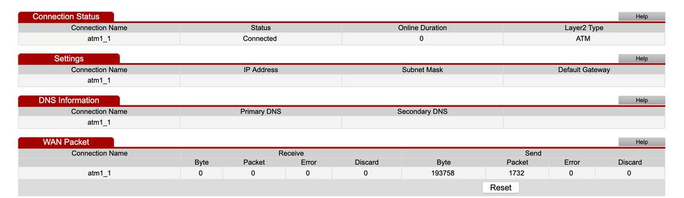 Status > Network