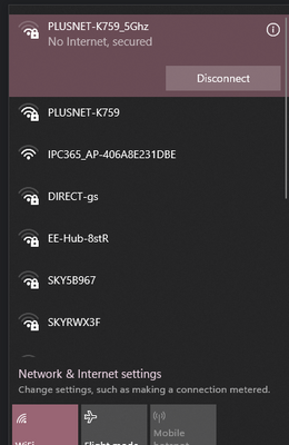WiFi 5Ghz Connected