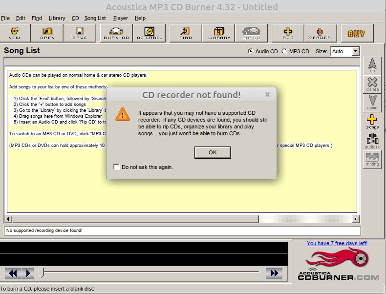 acoustica cd recorder not found..png