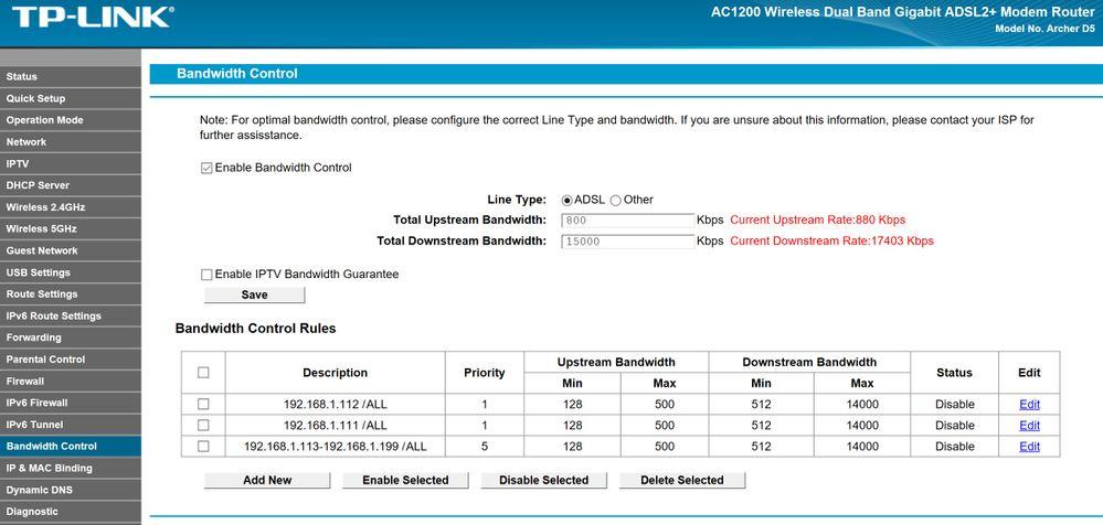advanced atm qos router setup to reduce bufferbloa... - Plusnet