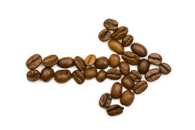 Coffee bean arrow