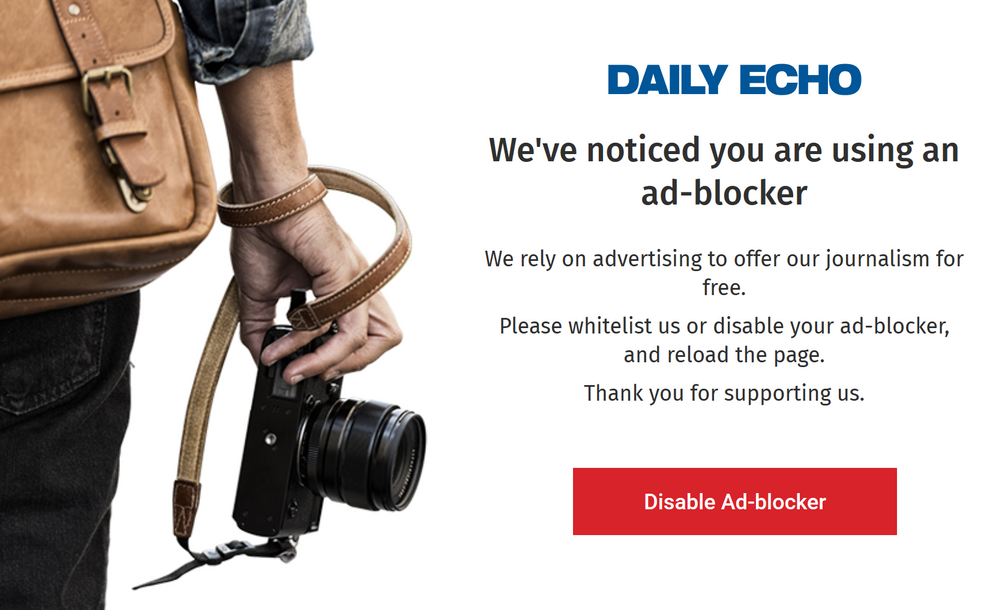 Why does this site object to Adblock and Adblock P    - Plusnet