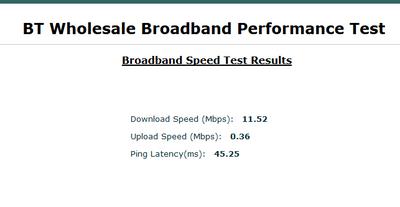 BT Speedtest Results 06/08/2016