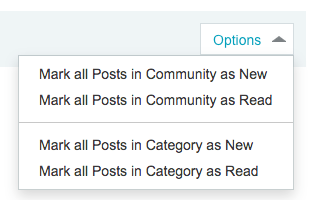 New options for category unread page