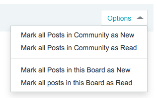 New options for topic unread page