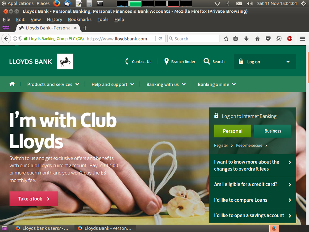 Lloyds bank users? - Plusnet Community
